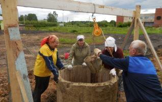 Общий деревенский колодец в Коськово